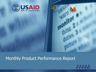 Monthly Product Performance Report