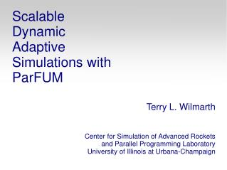 Scalable Dynamic Adaptive Simulations with ParFUM
