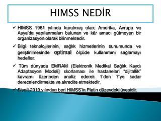 HIMSS NEDİR