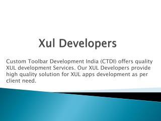 XUL Developers