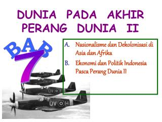 DUNIA  PADA  AKHIR PERANG  DUNIA  II