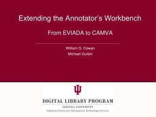 Extending the Annotator s Workbench