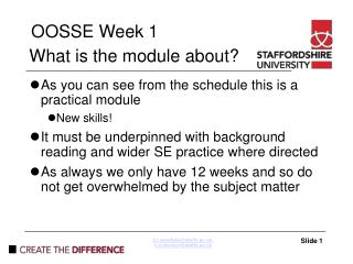 What is the module about?