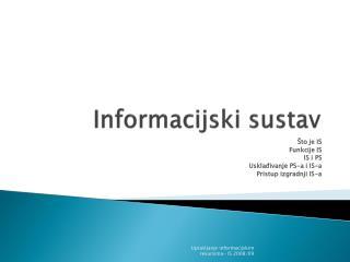 Informacijski sustav