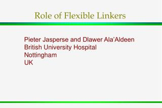 Role of Flexible Linkers