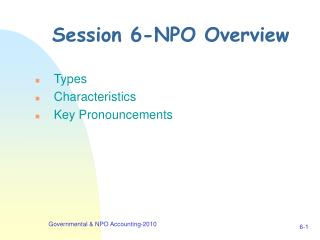 Session 6-NPO Overview