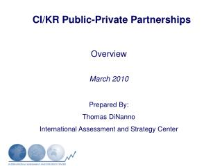 CI/KR Public-Private Partnerships