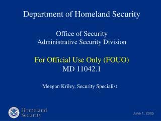 Meegan Kriley, Security Specialist