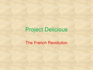 Project Delicious