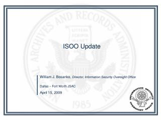 ISOO Update