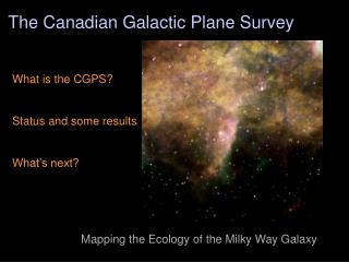 The Canadian Galactic Plane Survey