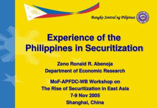 Experience of the Philippines in Securitization
