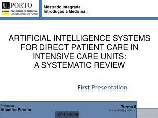 Mestrado Integrado Introdução à Medicina I