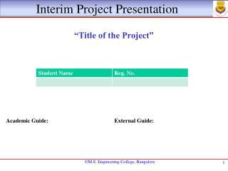 Interim Project Presentation