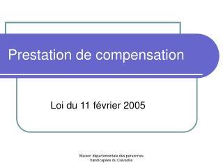 Prestation de compensation