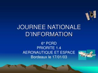 JOURNEE NATIONALE D'INFORMATION