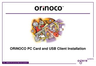 ORiNOCO PC Card and USB Client Installation