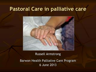 Pastoral Care in palliative care