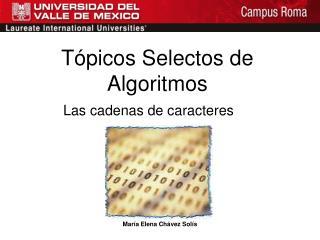 Tópicos Selectos de Algoritmos