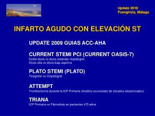 INFARTO AGUDO CON ELEVACIÓN ST