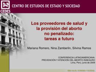Los proveedores de salud y  la provisión del aborto  no penalizado: tareas a futuro