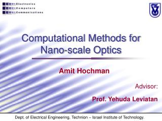 Computational Methods for  Nano-scale Optics