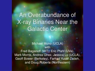 An Overabundance of  X-ray Binaries Near the Galactic Center