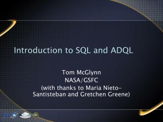 Introduction to SQL and ADQL