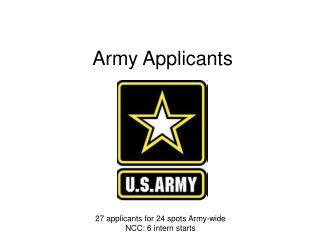 Army Applicants