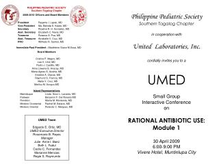 PHILIPPINE PEDIATRIC SOCIETY Southern Tagalog Chapter