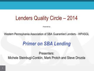 Lenders Quality Circle - 2014