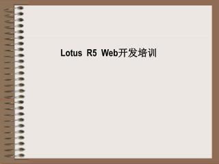Lotus  R5  Web 开发培训