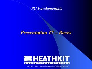 Presentation 17  –  Buses