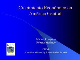 Crecimiento Económico en América Central