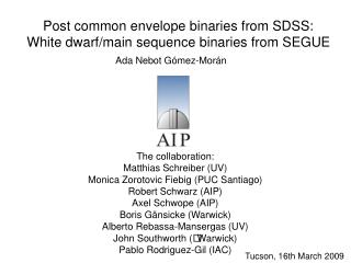 Post common envelope binaries from SDSS: White dwarf/main sequence binaries from SEGUE