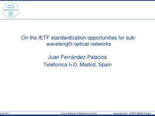 On the IETF standardization opportunities for sub-wavelength optical networks
