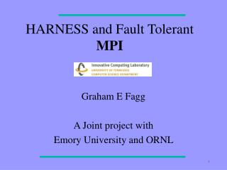 HARNESS and Fault Tolerant  MPI
