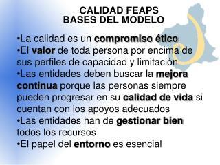 CALIDAD FEAPS BASES DEL MODELO