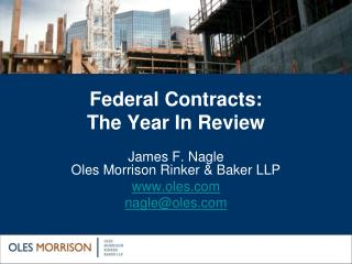 Federal Contracts: The Year In Review