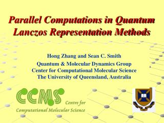 Parallel Computations in Quantum Lanczos Representation Methods