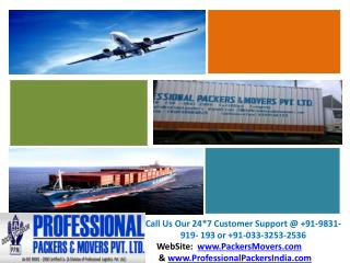 Professional Packers And Movers Kolkata - www.PackersMovers.