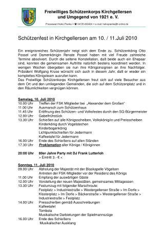 Freiwilliges Schützenkorps Kirchgellersen                und Umgegend von 1921 e. V.