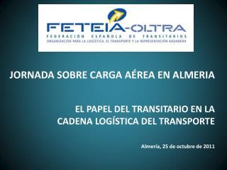 JORNADA SOBRE CARGA A�REA EN ALMERIA EL PAPEL DEL TRANSITARIO EN LA