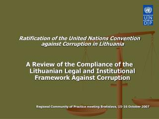 Ratification of the United Nations Convention against Corruption in Lithuania