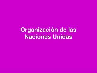 Organización de las Naciones Unidas