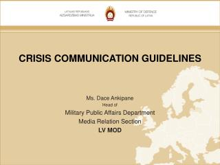 CRISIS COMMUNICATION GUIDELINES