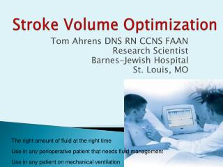 Stroke Volume Optimization