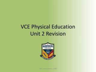 VCE Physical Education Unit 2 Revision