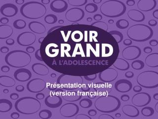 Présentation visuelle (version française)