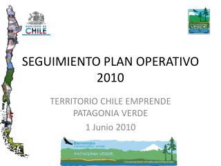 SEGUIMIENTO PLAN OPERATIVO 2010